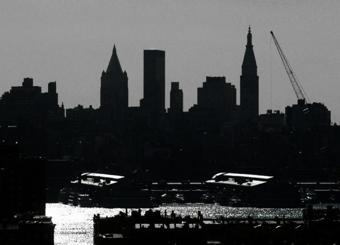 new york city skyline outline. new york city skyline